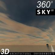 Sky 3D Sunset 008 3d model