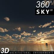 Sky 3D Sunset 010 3d model