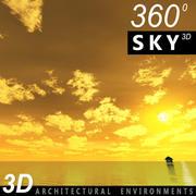 Sky 3D Sunset 011 3d model