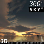 Sky 3D Sunset 012 3d model