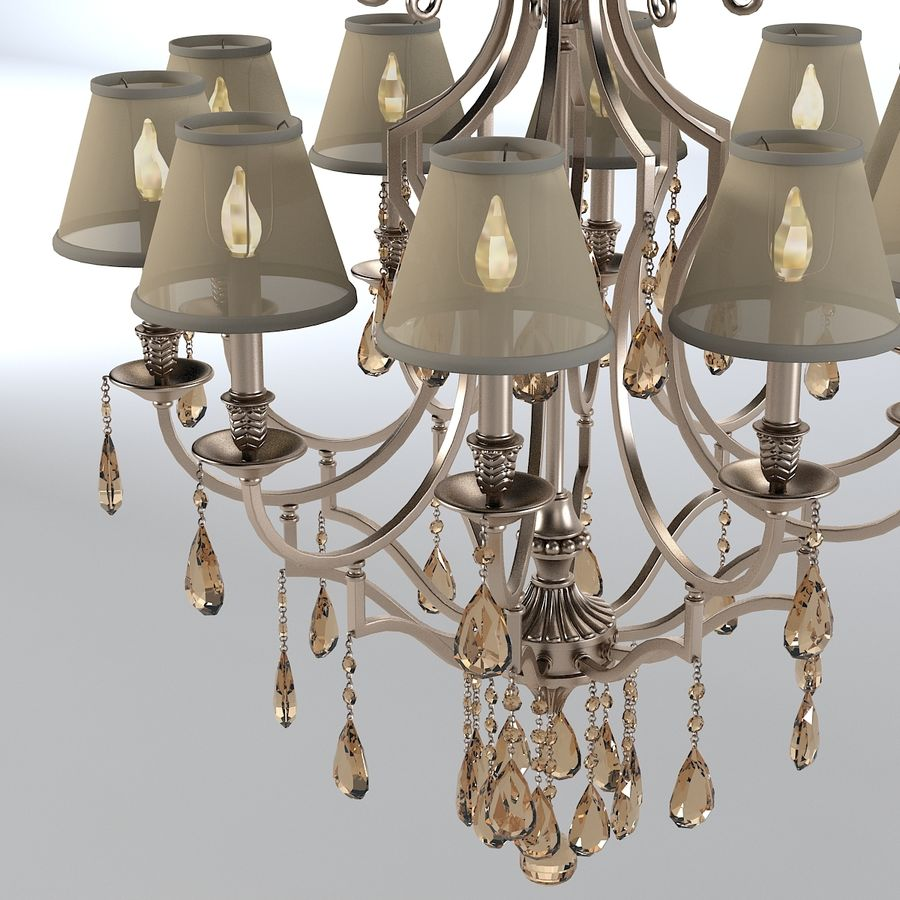 John Richard 10 Light Chandelier AJC-8729 royalty-free 3d model - Preview no. 3