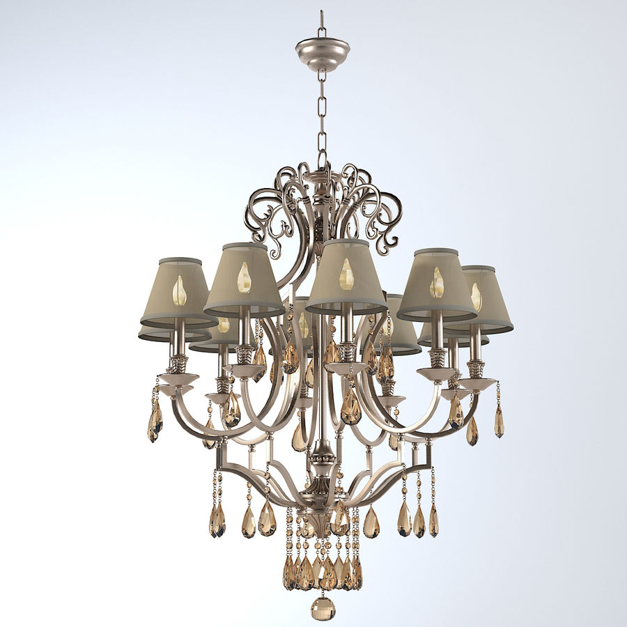 John Richard 10 Light Chandelier AJC-8729 royalty-free 3d model - Preview no. 1