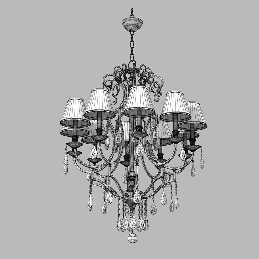 John Richard 10 Light Chandelier AJC-8729 royalty-free 3d model - Preview no. 4