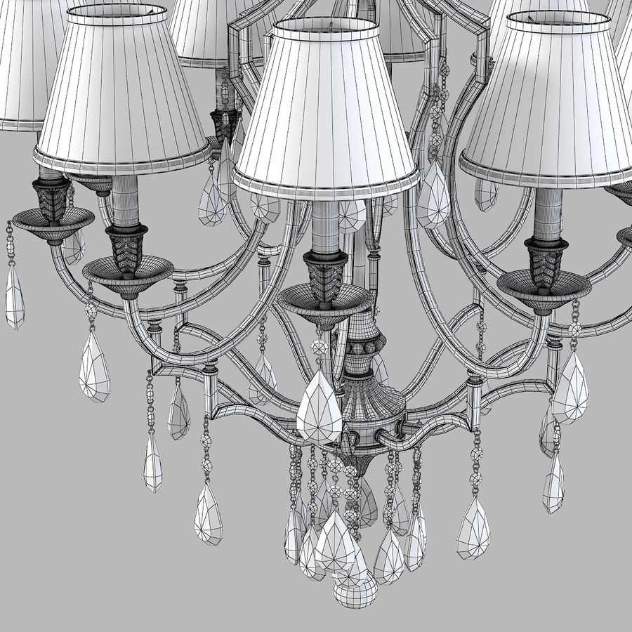 John Richard 10 Light Chandelier AJC-8729 royalty-free 3d model - Preview no. 5