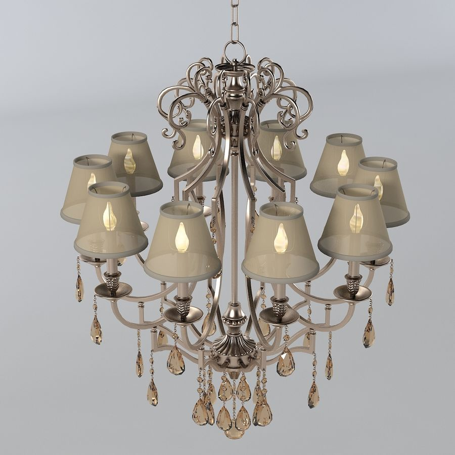 John Richard 10 Light Chandelier AJC-8729 royalty-free 3d model - Preview no. 2