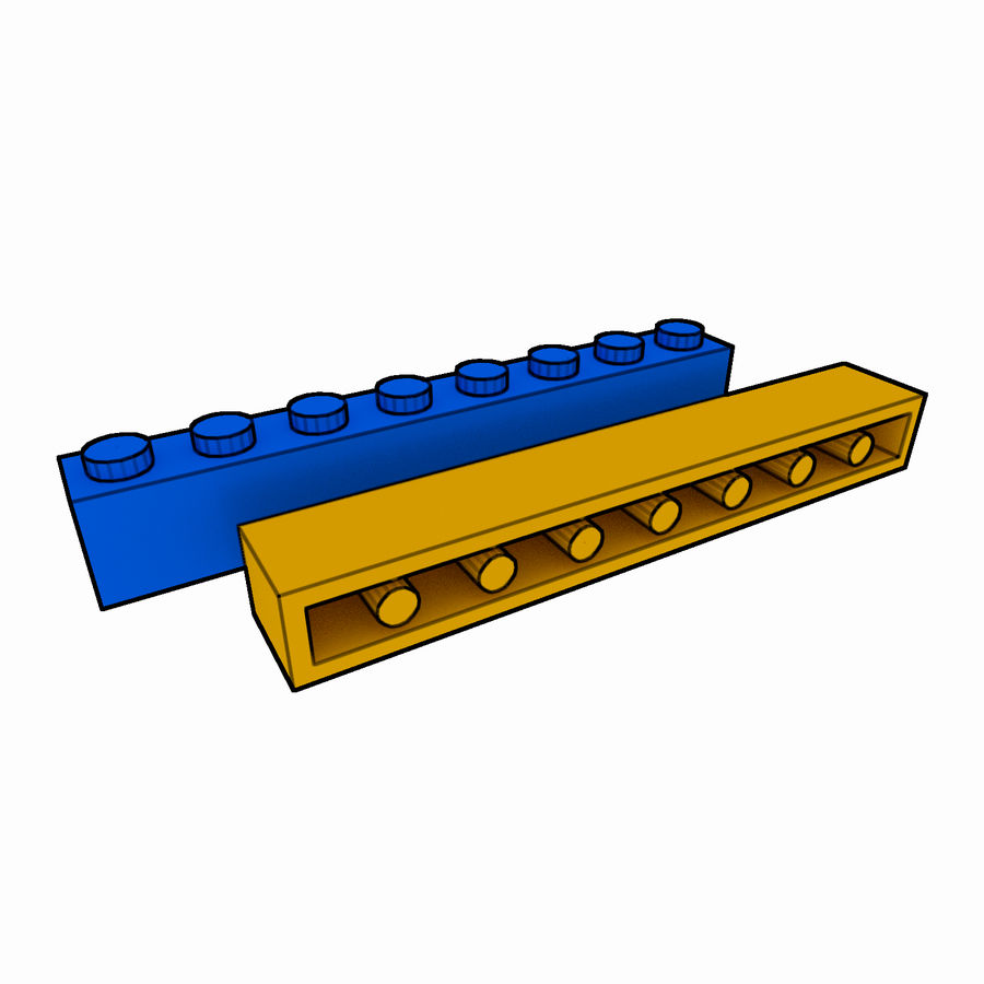 Lego Brick Pack Toon rendered royalty-free 3d model - Preview no. 13