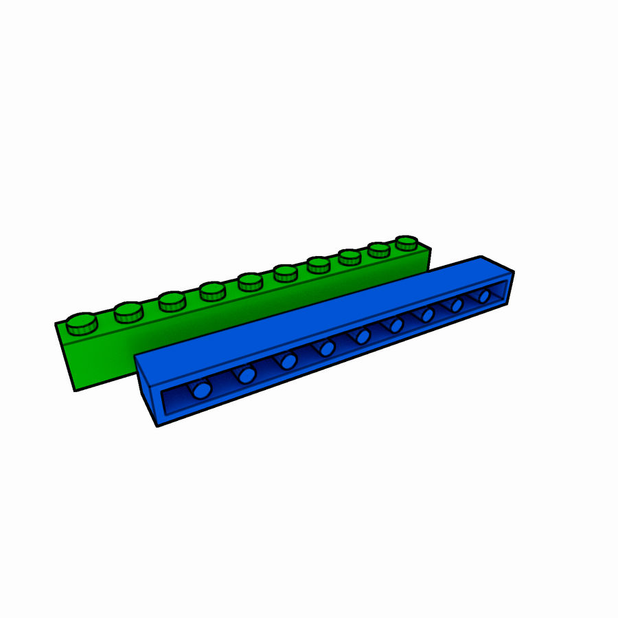 Lego Brick Pack Toon rendered royalty-free 3d model - Preview no. 15