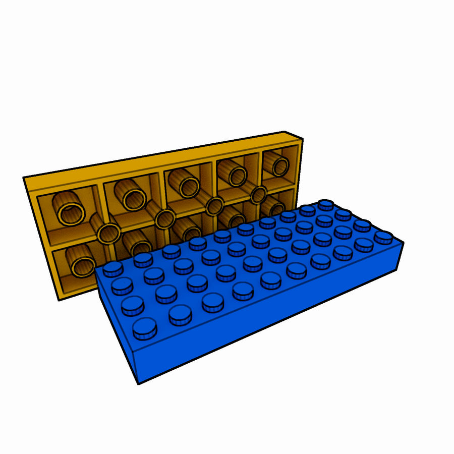 Lego Brick Pack Toon rendered royalty-free 3d model - Preview no. 37