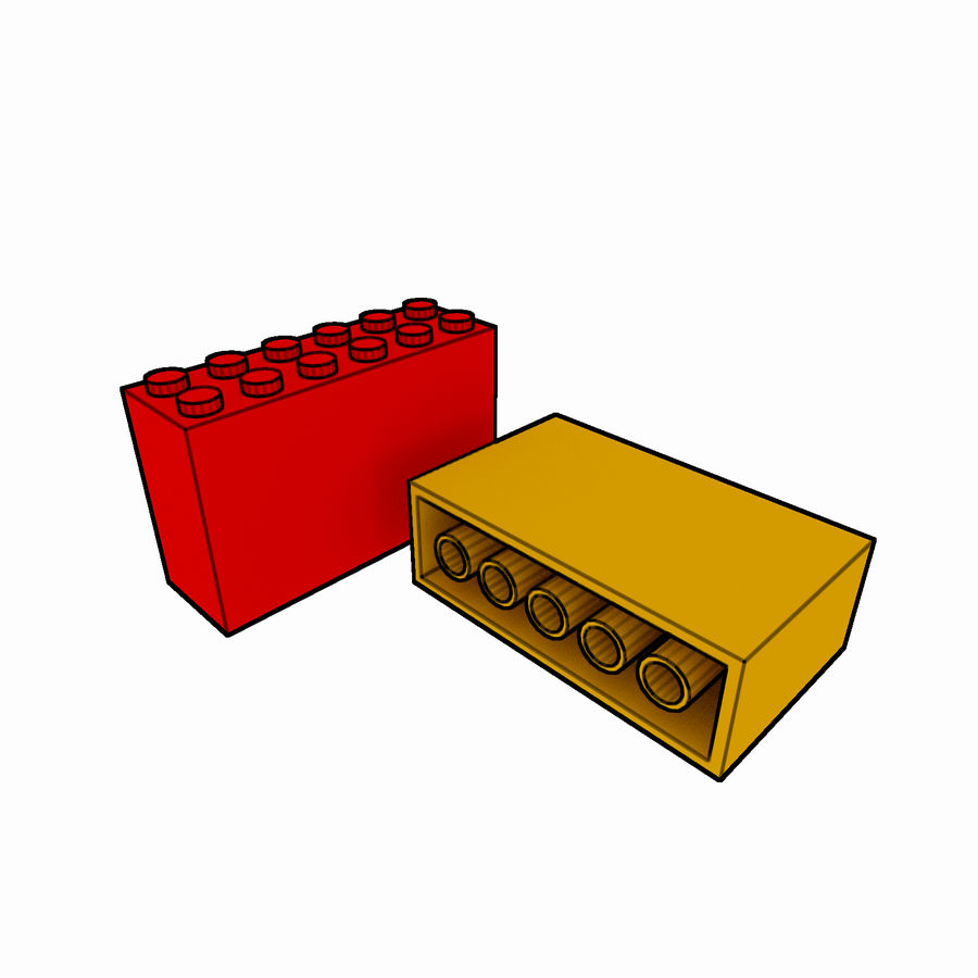 Lego Brick Pack Toon rendered royalty-free 3d model - Preview no. 51