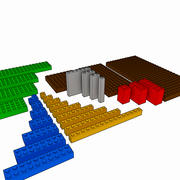 Lego Brick Pack Toon reso 3d model
