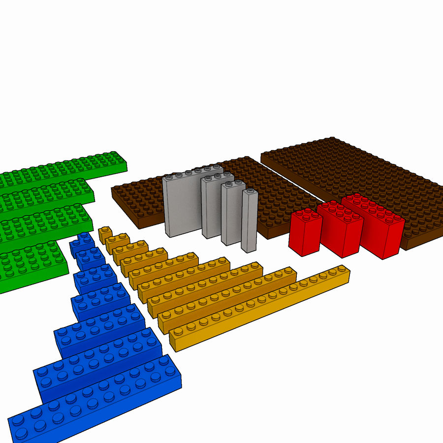 Lego Brick Pack Toon rendered royalty-free 3d model - Preview no. 1