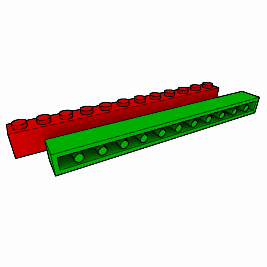 Lego Brick Pack Toon rendered royalty-free 3d model - Preview no. 17