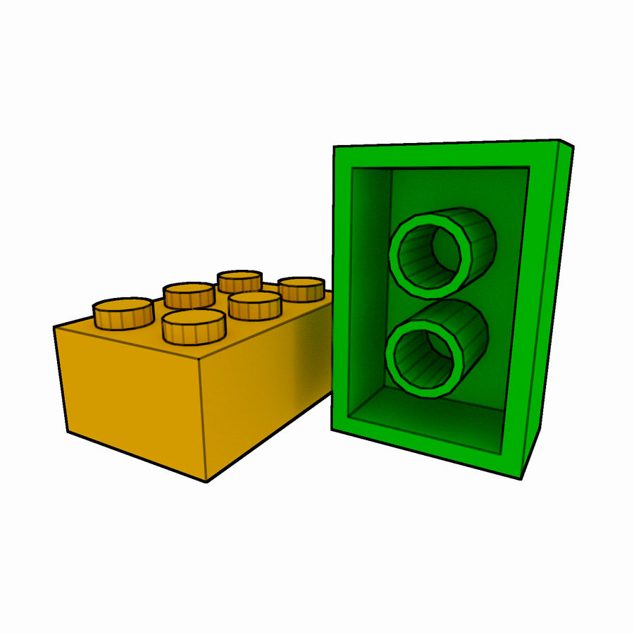 Lego Brick Pack Toon rendered royalty-free 3d model - Preview no. 25