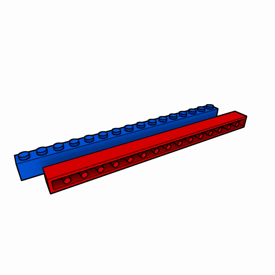 Lego Brick Pack Toon rendered royalty-free 3d model - Preview no. 19