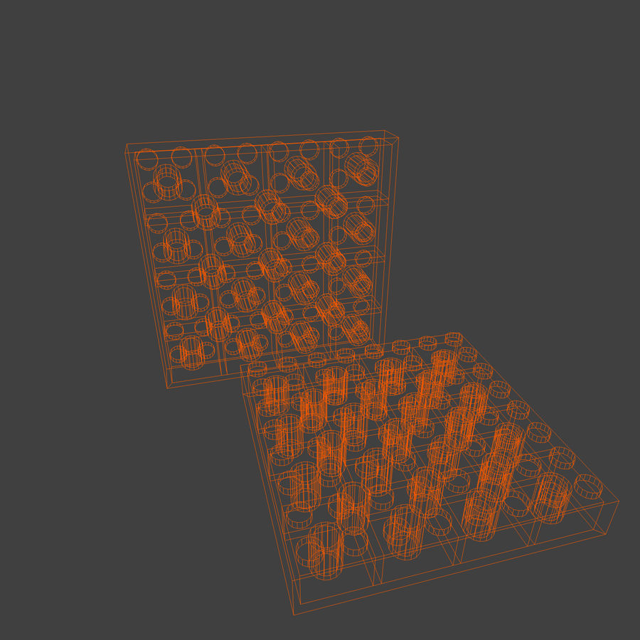 Lego Brick Pack Toon rendered royalty-free 3d model - Preview no. 44