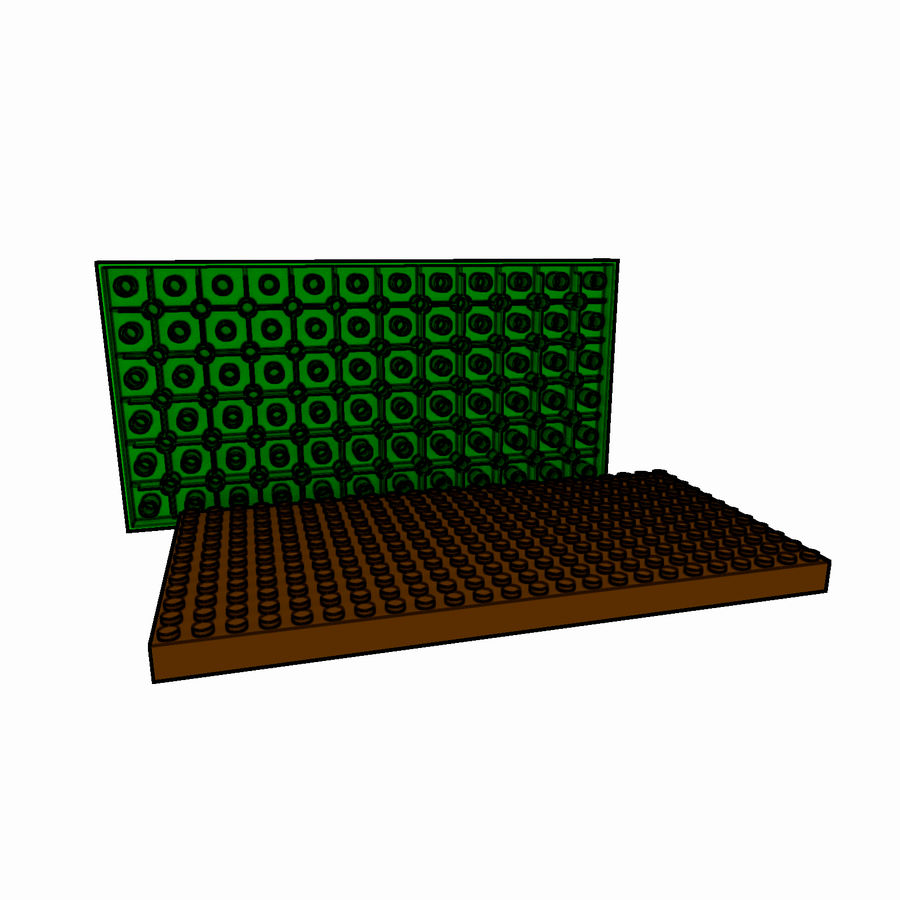Lego Brick Pack Toon rendered royalty-free 3d model - Preview no. 45