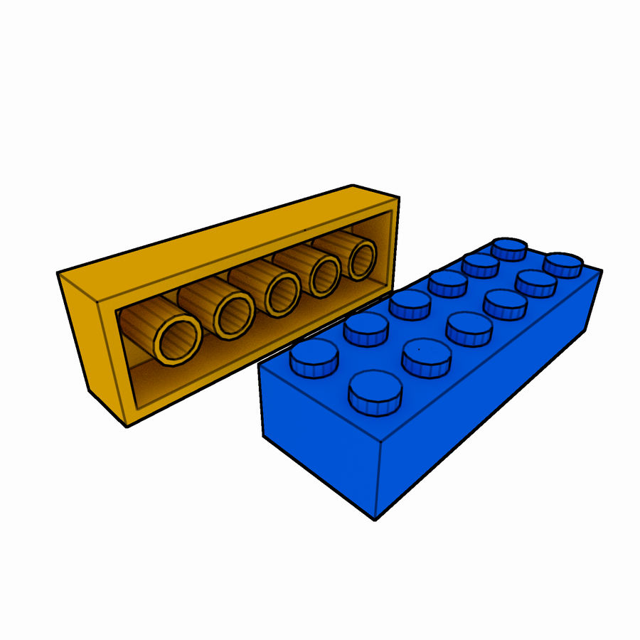 Lego Brick Pack Toon rendered royalty-free 3d model - Preview no. 29