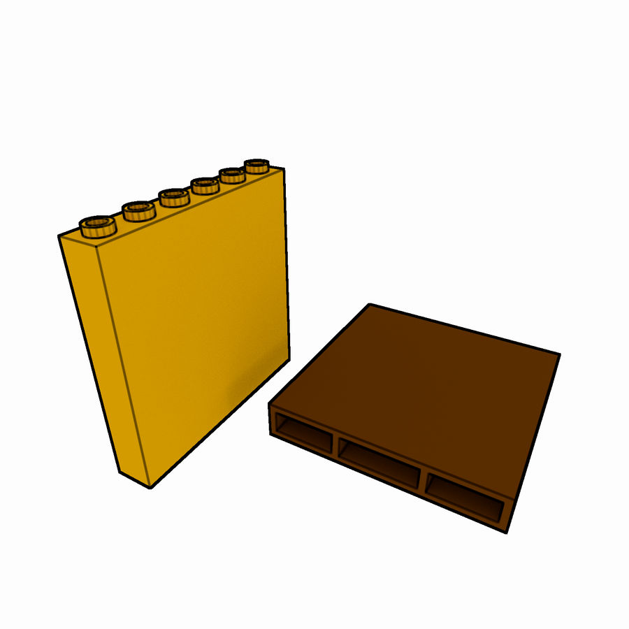 Lego Brick Pack Toon rendered royalty-free 3d model - Preview no. 59