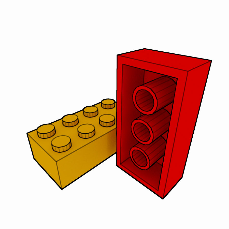 Lego Brick Pack Toon rendered royalty-free 3d model - Preview no. 27