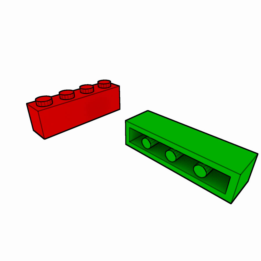 Lego Brick Pack Toon rendered royalty-free 3d model - Preview no. 9