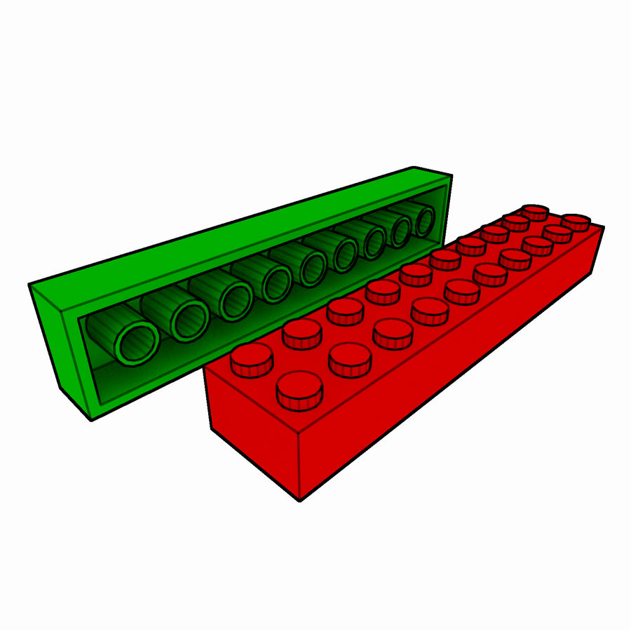 Lego Brick Pack Toon rendered royalty-free 3d model - Preview no. 33