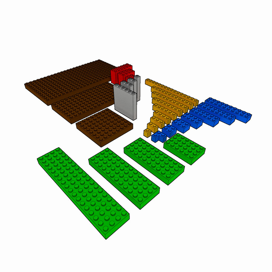 Lego Brick Pack Toon rendered royalty-free 3d model - Preview no. 2