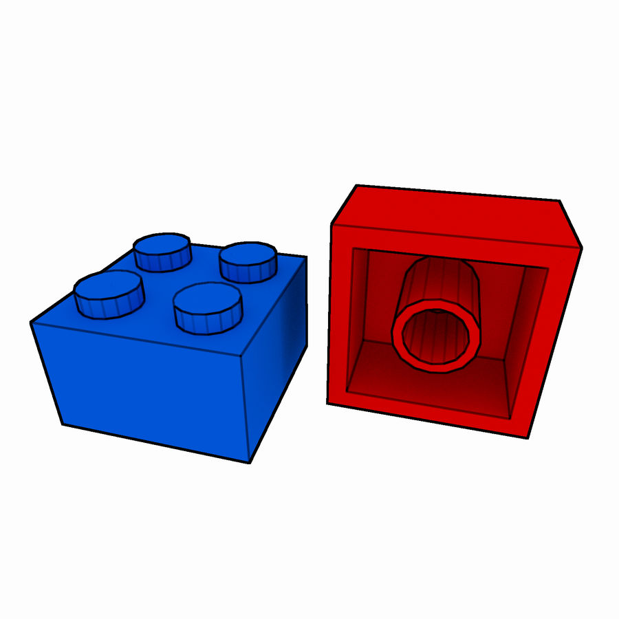 Lego Brick Pack Toon rendered royalty-free 3d model - Preview no. 23