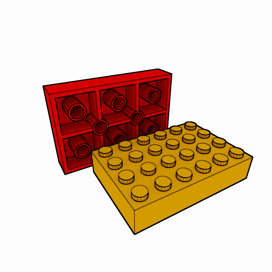 Lego Brick Pack Toon rendered royalty-free 3d model - Preview no. 35