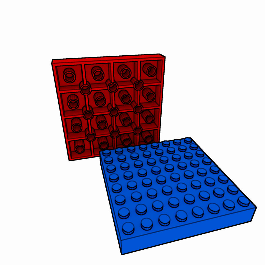 Lego Brick Pack Toon rendered royalty-free 3d model - Preview no. 43