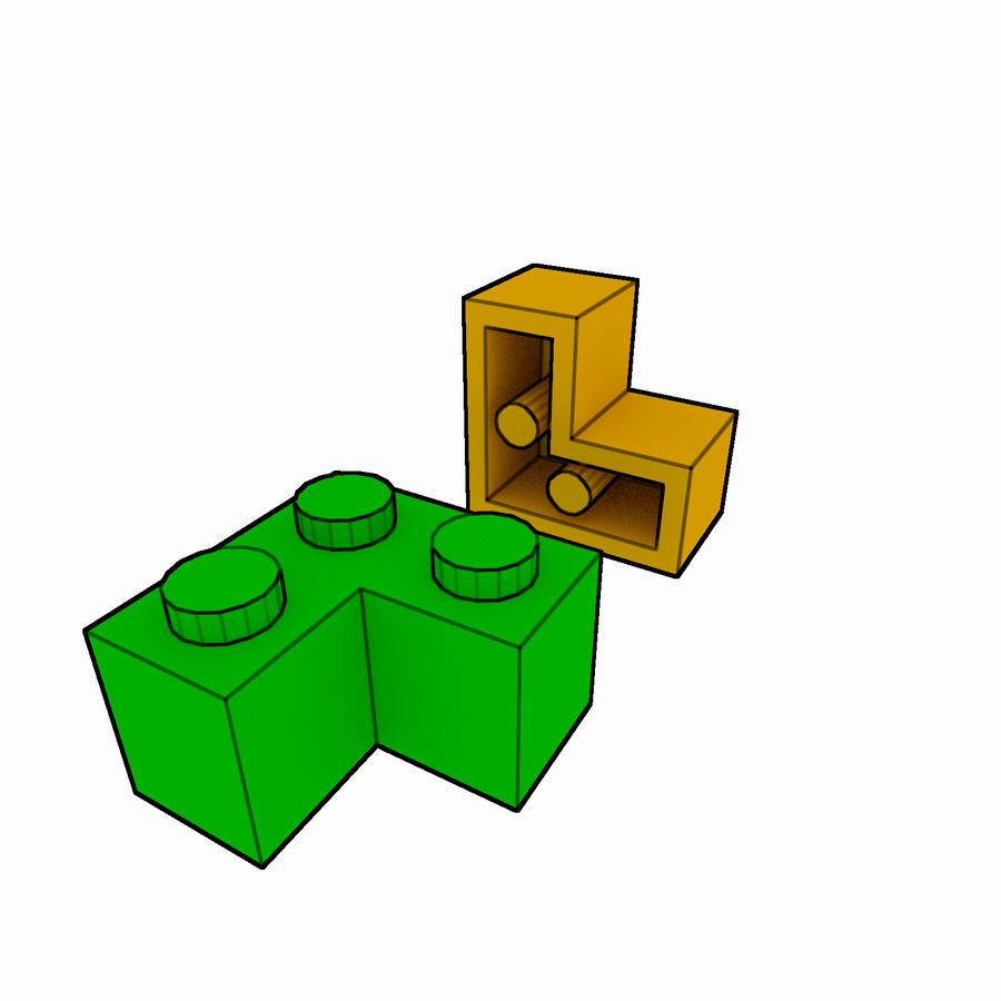 Lego Brick Pack Toon rendered royalty-free 3d model - Preview no. 21