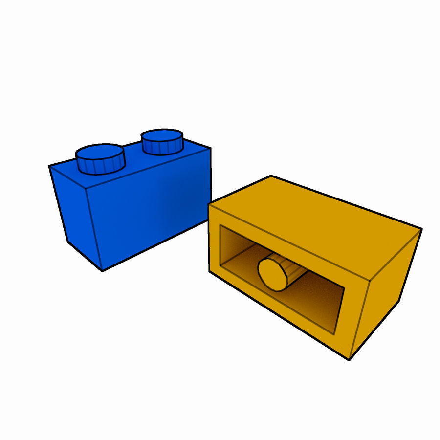 Lego Brick Pack Toon rendered royalty-free 3d model - Preview no. 5