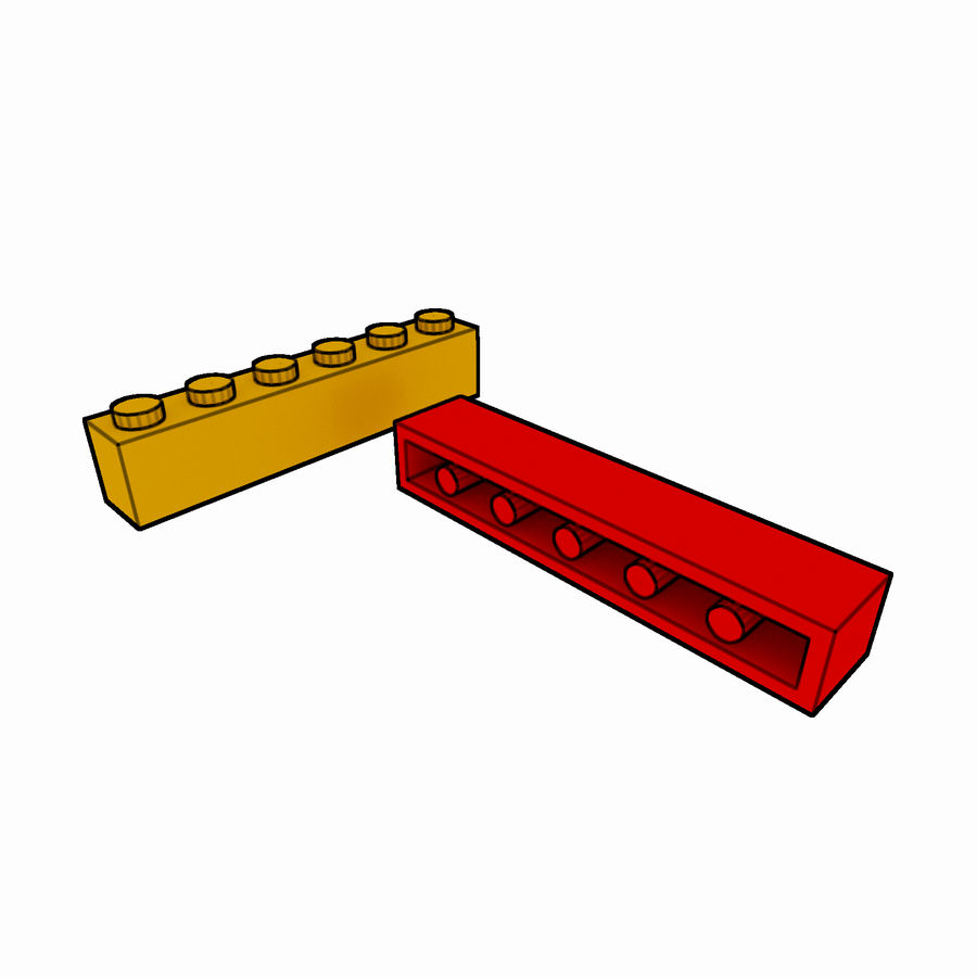 Lego Brick Pack Toon rendered royalty-free 3d model - Preview no. 11