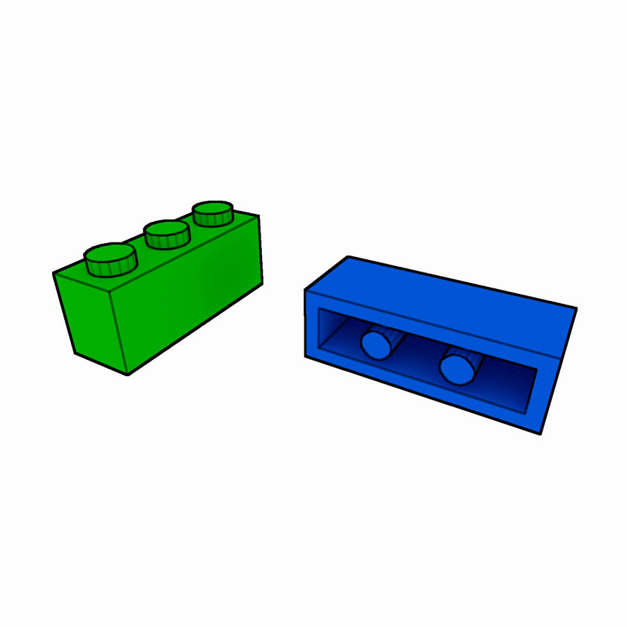 Lego Brick Pack Toon rendered royalty-free 3d model - Preview no. 7