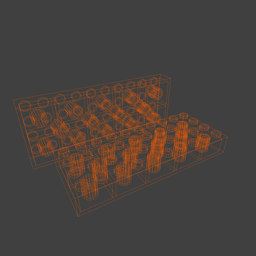 Lego Brick Pack Toon rendered royalty-free 3d model - Preview no. 38