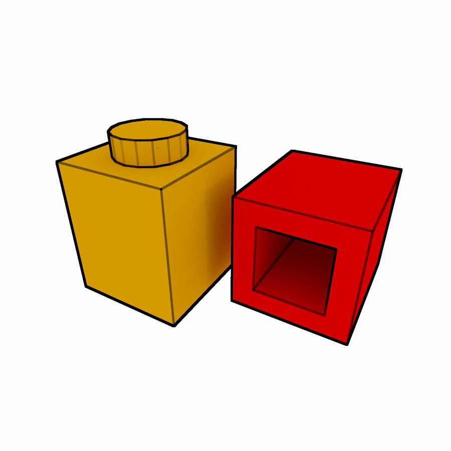 Lego Brick Pack Toon rendered royalty-free 3d model - Preview no. 3