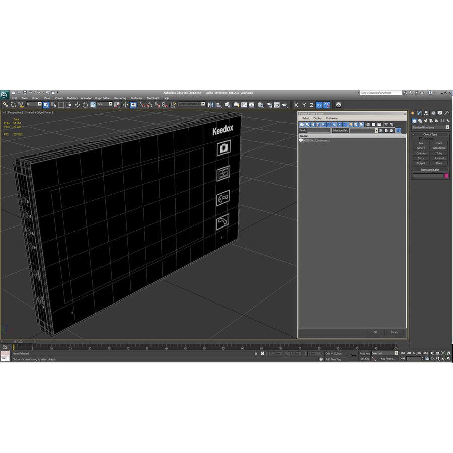 비디오 인터콤 KEEDOX royalty-free 3d model - Preview no. 31