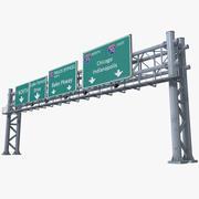 Highway Signage 10 3d model
