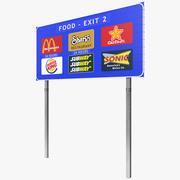 Highway Signage 3 3d model