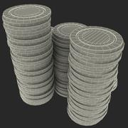 Fichas de pôker 3d model