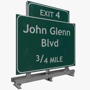 Highway Signage 5 3d model