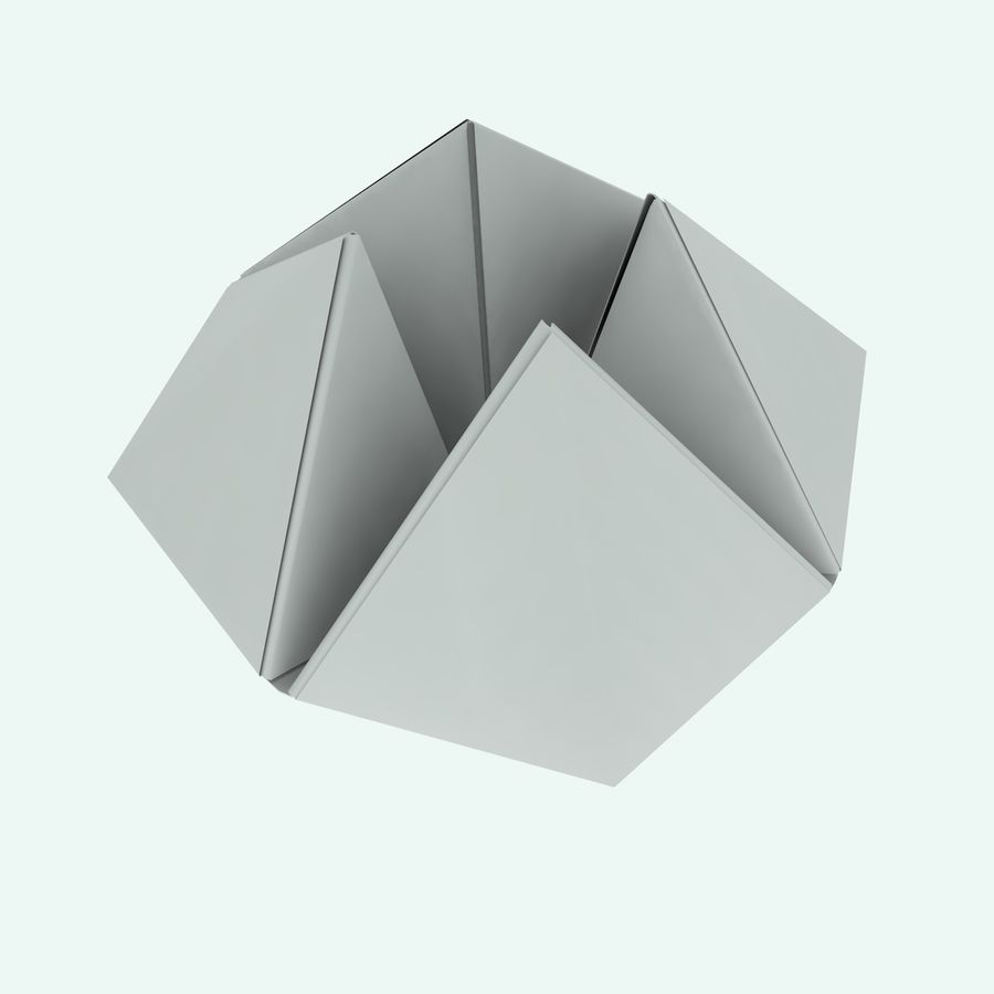 Origami royalty-free 3d model - Preview no. 3