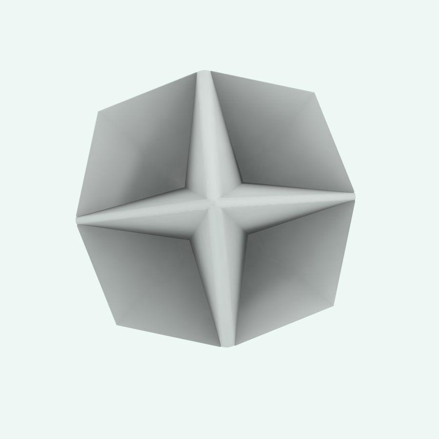 Origami royalty-free 3d model - Preview no. 11