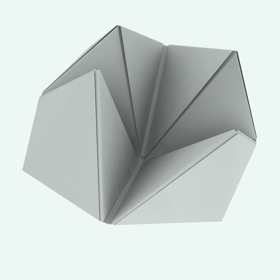 Origami royalty-free 3d model - Preview no. 7
