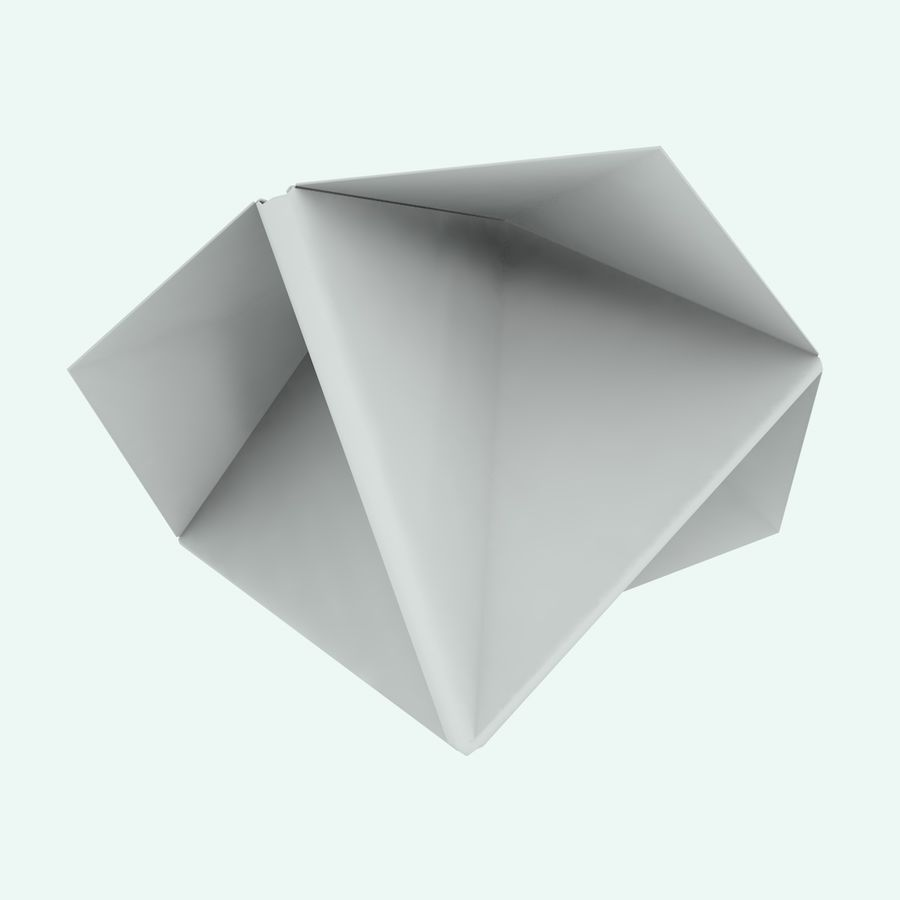 Origami royalty-free 3d model - Preview no. 10