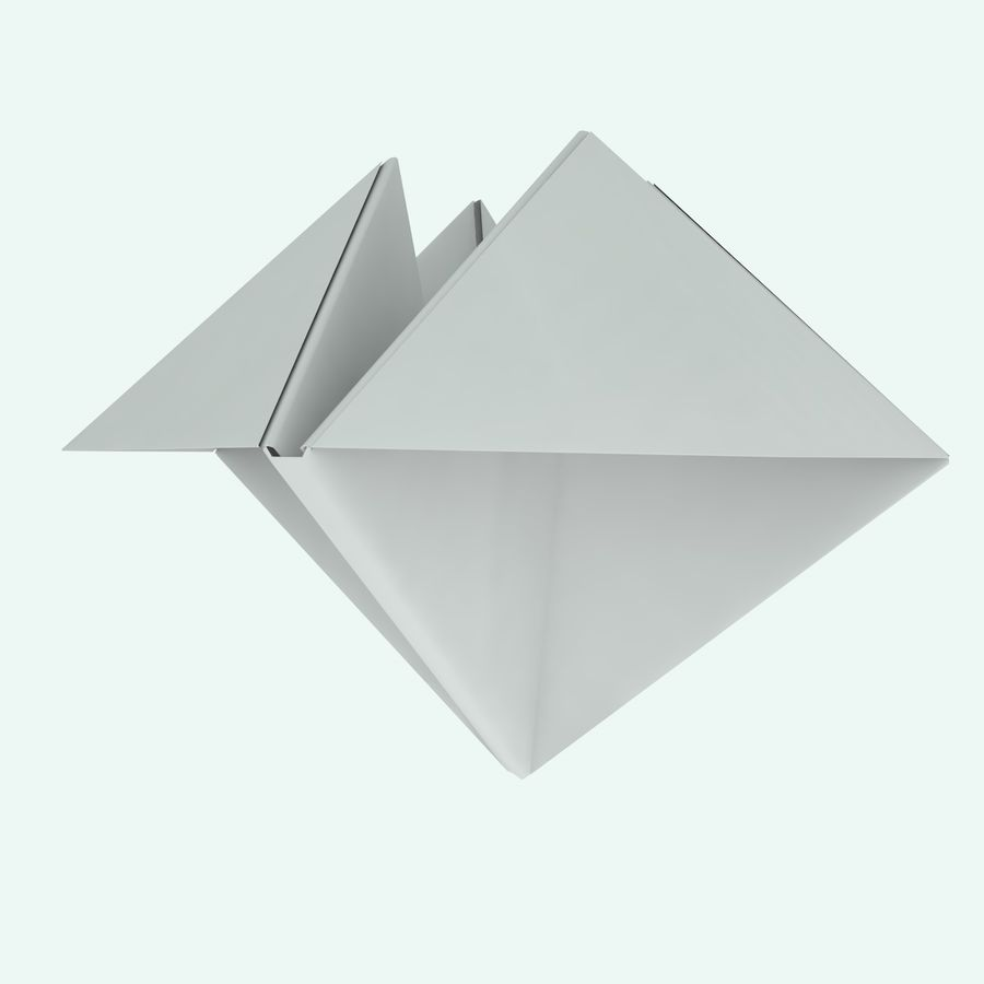 Origami royalty-free 3d model - Preview no. 4