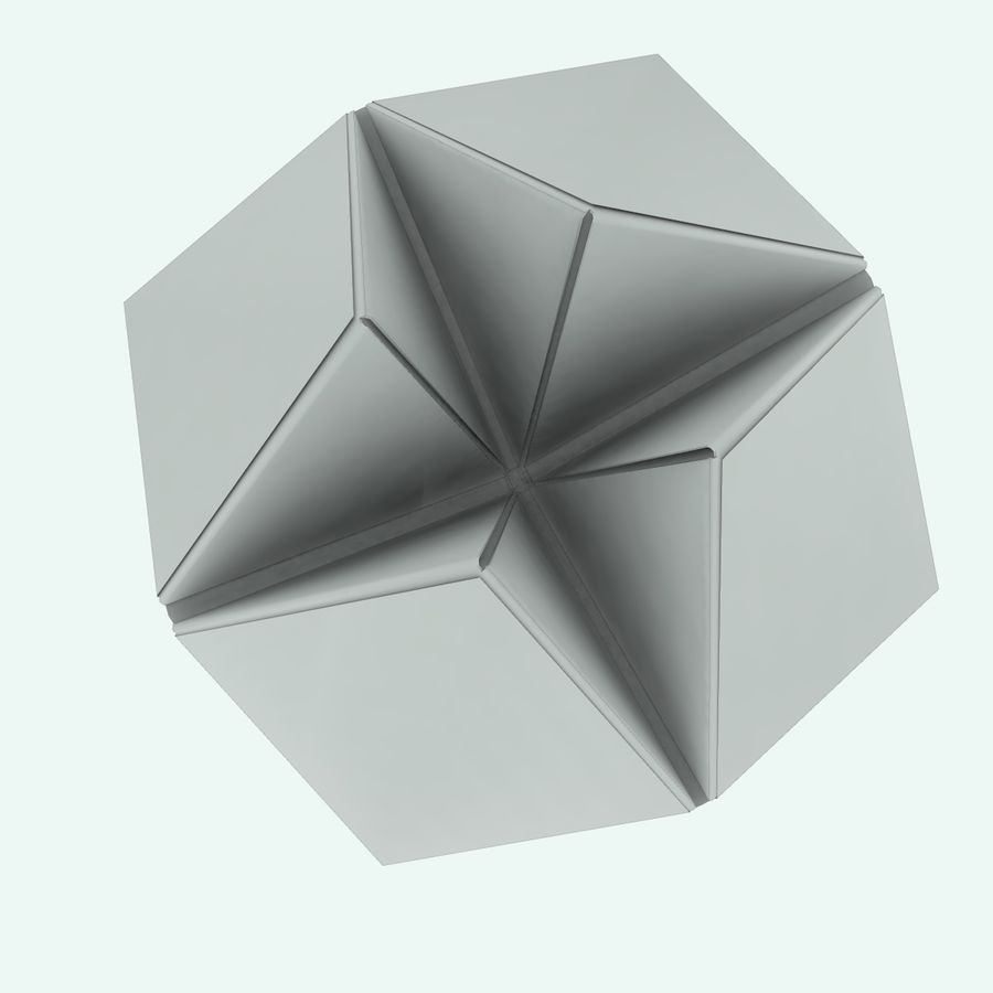 Origami royalty-free 3d model - Preview no. 6