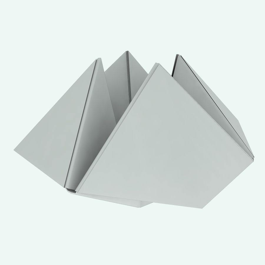 Origami royalty-free 3d model - Preview no. 9