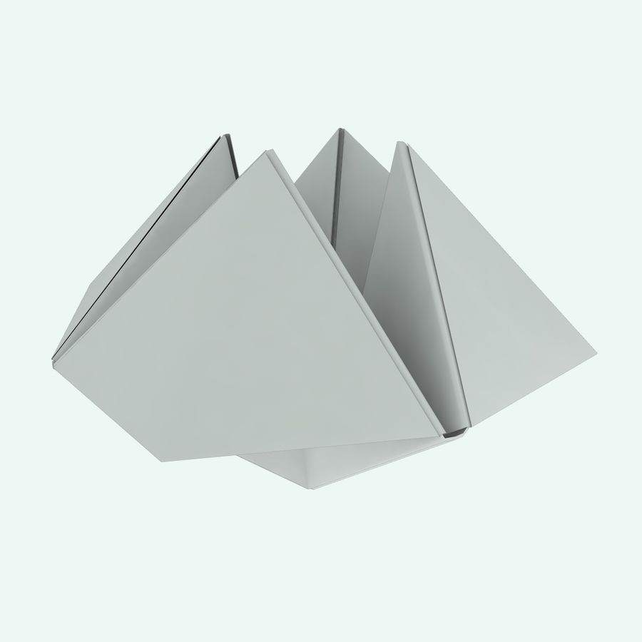Origami royalty-free 3d model - Preview no. 8