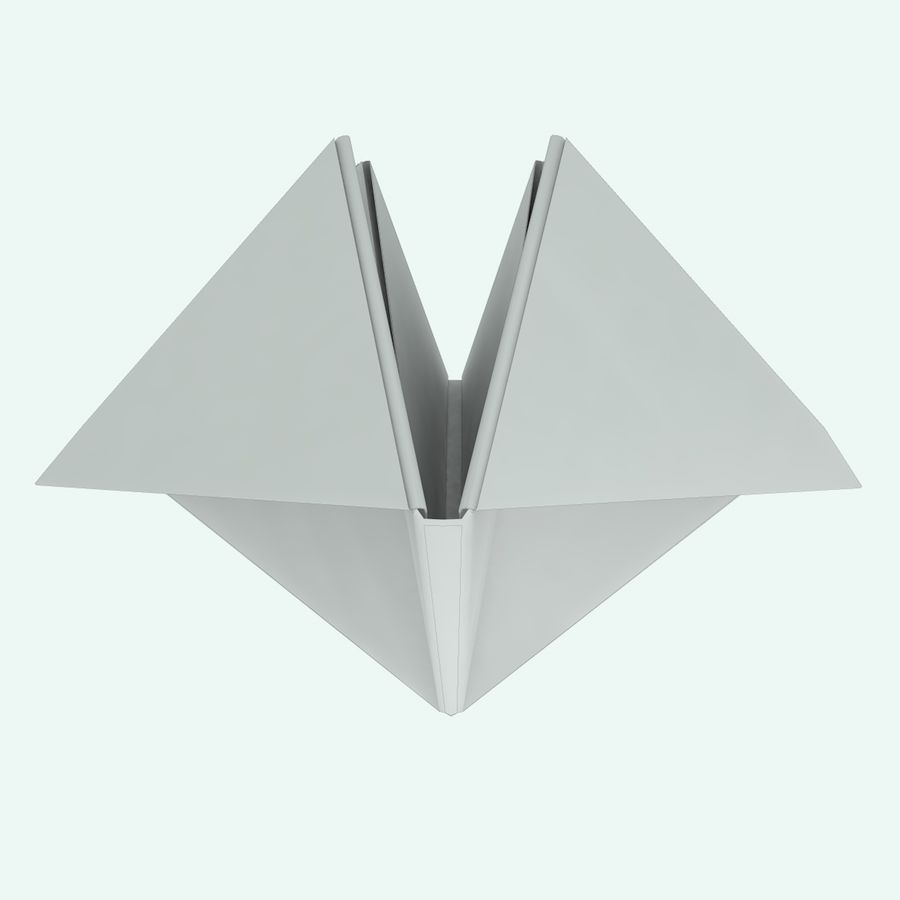 Origami royalty-free 3d model - Preview no. 5