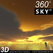 Ciel 3d coucher de soleil 023 3d model